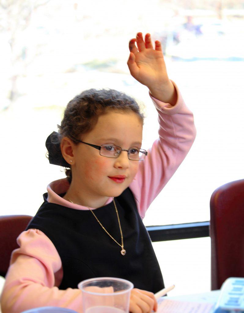 raising hand- girl